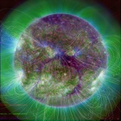 Latest SDO AIA 304 211 171 image of the sun